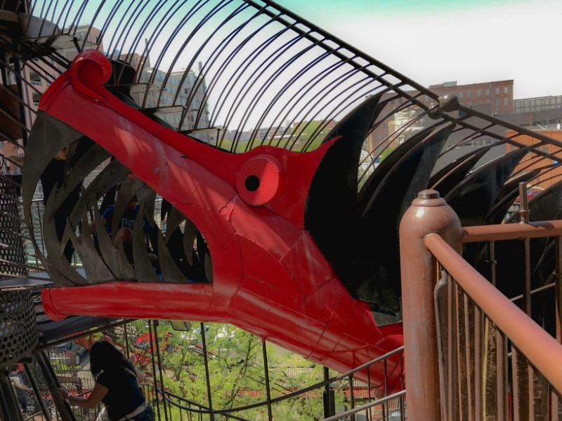 City Museum Dragon Slide